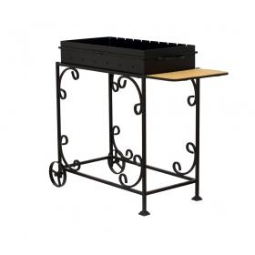 Мангал садовый МС-4С со столиком на колесах
